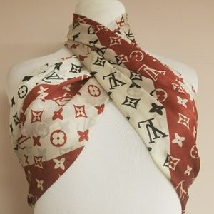 New silk large Louis Vuitton scarf.